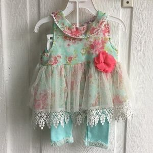 Little Lass Baby Spring Dress with Leggings